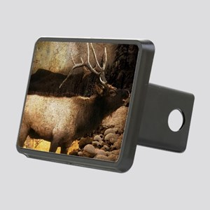 mountain rocks wild elk Rectangular Hitch Cover