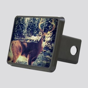 forest white tail deer  Rectangular Hitch Cover