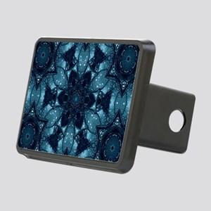 hipster mandala teal flowe Rectangular Hitch Cover