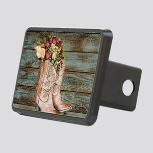 cowboy boots Rectangular Hitch Cover
