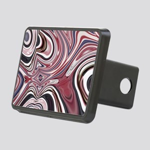 red white blue swirls Rectangular Hitch Cover