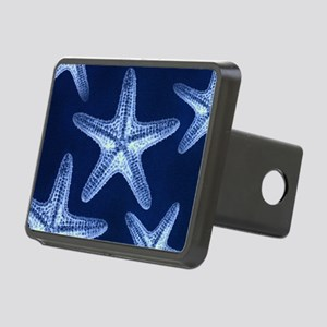 beach blue starfish Rectangular Hitch Cover