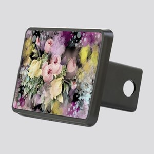 cute vintage black floral Rectangular Hitch Cover