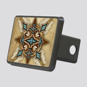 Native American Style Mand Rectangular Hitch Cover