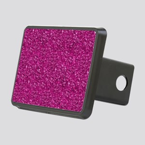 Magenta Pink Glitter Rectangular Hitch Cover