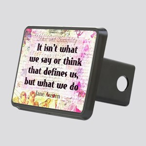 Jane Austen quote Sense an Rectangular Hitch Cover