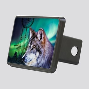 dream catcher northern lig Rectangular Hitch Cover