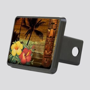 passion flower Palm tree h Rectangular Hitch Cover