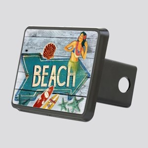 surf board hawaii beach  Rectangular Hitch Cover