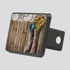 barnwood cowboy boots coun Rectangular Hitch Cover