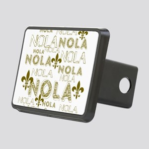 NOLA NOLA NOLA Gold Fleur Rectangular Hitch Cover