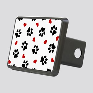 Paw Prints and Hearts Rectangular Hitch Cover