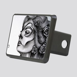 Dia De Los Muertos Drawing Rectangular Hitch Cover