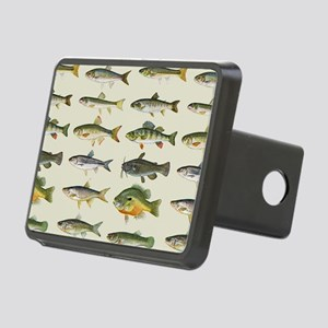 Freshwater Fish Chart Rectangular Hitch Cover