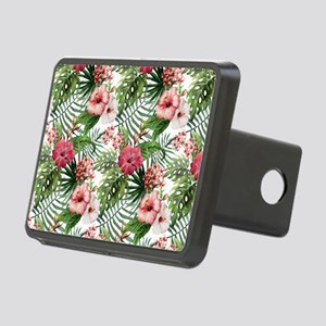 Watercolor Tropical Flower Rectangular Hitch Cover