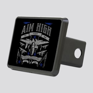 Aim High Fly Fight Win Rectangular Hitch Cover