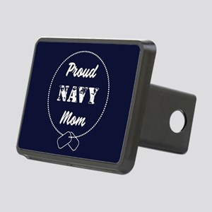 Proud Navy Mom Rectangular Hitch Cover