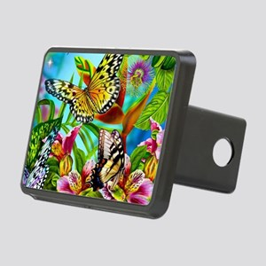 Beautiful Butterflies And Flowers Rectangular Hitc