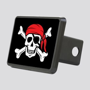 Jolly Roger Pirate (on Bla Rectangular Hitch Cover