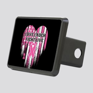 Love Laugh Fight Live Rectangular Hitch Cover