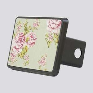 shabby chic country pink r Rectangular Hitch Cover