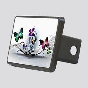 Colorful Butterflies Rectangular Hitch Cover
