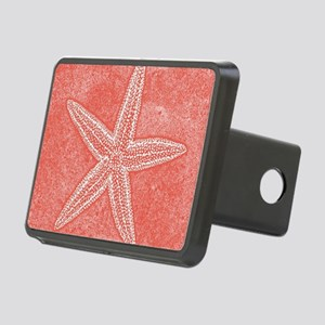 Coral Pink Starfish Hitch Cover