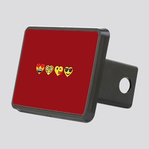 Emoji Love Faces Rectangular Hitch Cover