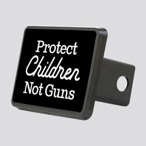 Protect Children Not Guns Rectangular Hitch Cover