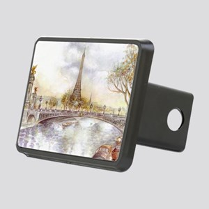 Eiffel Tower Painting Rectangular Hitch Cover