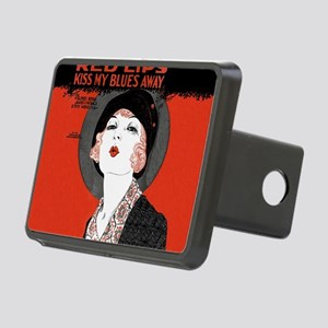 Vintage Red Lips Kiss Blues Hitch Cover