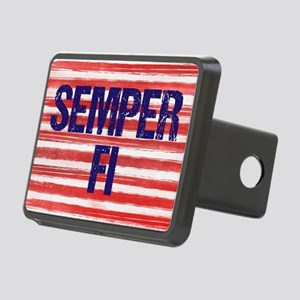 Semper Fi Rectangular Hitch Cover