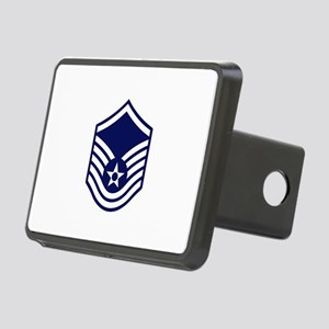 USAF: MSgt E-7 (White) Rectangular Hitch Cover