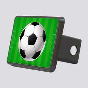 Football Ball And Field Rectangular Hitch Cover