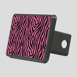 Pink Zebra Rectangular Hitch Cover
