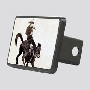 Vintage Rodeo Cowboy Rectangular Hitch Cover