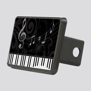 Whimsical Piano and musica Rectangular Hitch Cover