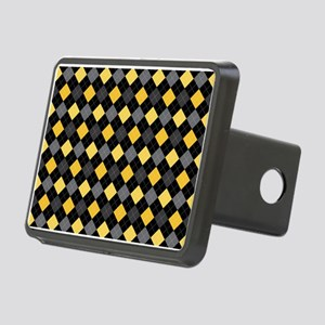 Yellow Charcoal Argyle Rectangular Hitch Cover