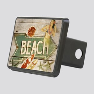 surfer beach sailor starfi Rectangular Hitch Cover