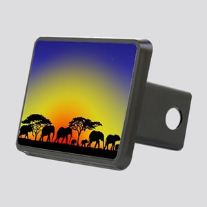 Elephant Crossing Rectangular Hitch Cover