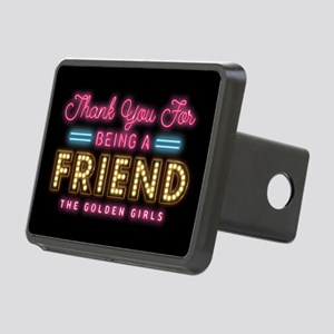 Neon Thank You For Being A Friend Hitch Cover
