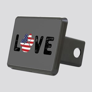 LOVE Paw Print Rectangular Hitch Cover