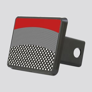 Red Pattern Rectangular Hitch Cover