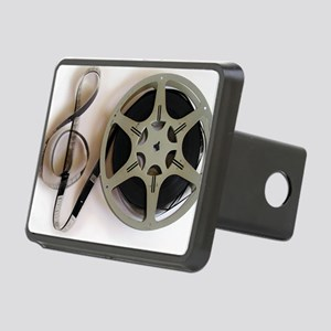 Clef and Film Reel by Lesl Rectangular Hitch Cover