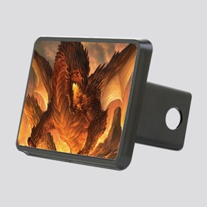 Angry Dragon Rectangular Hitch Cover