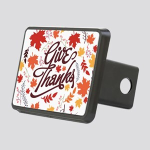 Give Thanks Rectangular Hitch Cover