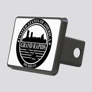 Grand rapids logo black and white Hitch Cover