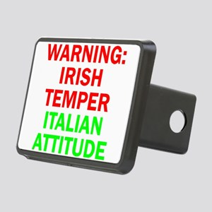 WARNINGIRISHTEMPER ITALIAN ATTITUDE Hitch Cover