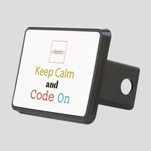 Keep Calm and Code On Rectangular Hitch Cover