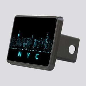 Digital Cityscape: New Yor Rectangular Hitch Cover